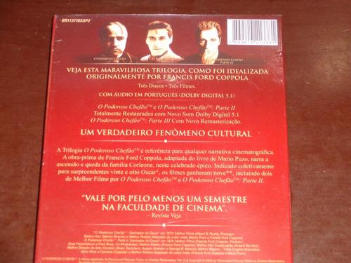 box o poderoso chefão / 3 dvds classico lacrado !! coppola