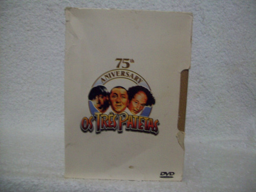 box original com 04 dvds os três patetas- 75th aniversary