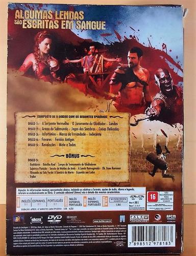 box original dvd: spartacus sangue e areia - 05 discos