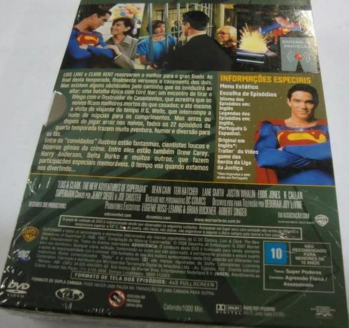 box original : lois & clark - 4ª temporada - novo - 6 dvd's