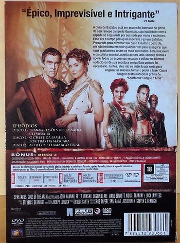 box original: spartacus origens deuses da arena 3 discos dvd