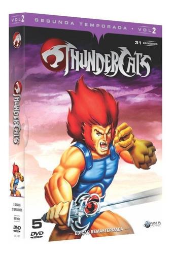 box original: thundercats - 2ª temporada - vol.2 - 5 dvd's