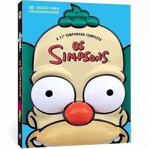 box os simpsons - 11ª temporada - 4 dvd's - edição cabeça