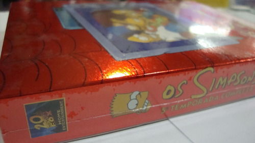 box : os simpsons - 5ª temporada - 4 dvd's - original novo