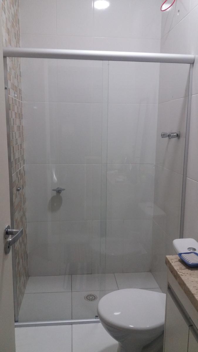 Box P Banheiro  Vidro Cristal Incolor 8mm Temperado  R$ 65,00 em Mercado L -> Cuba Para Banheiro Cristal
