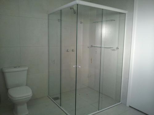 box p/ banheiro vidro cristal incolor 8mm temperado blindex