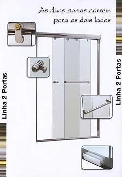 box p/ banheiro vidro temperado 8 mm  ponte pequena e zn