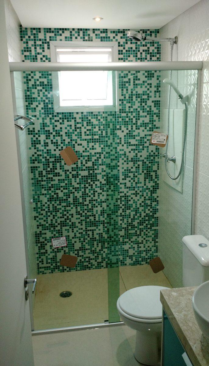 Box P Banheiro, Vidro Temperado 8mm, Incolor, (tipo Blindex)  R$ 65,00 em Me -> Pia De Banheiro Em Blindex