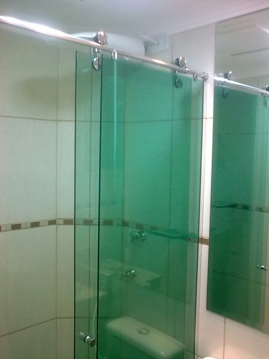 Box Para Banheiro Em Vidro Temperado Vários Modelos  R$ 55,00 em Mercado Livre # Box Para Banheiro Pequeno Mercado Livre