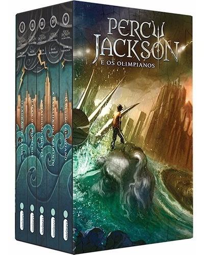 Box Percy Jackson E Os Olimpianos Nova Capa (5 Livros