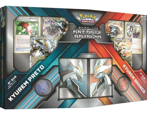 box pokemon arena de batalha kyurem preto vs kyurem branco