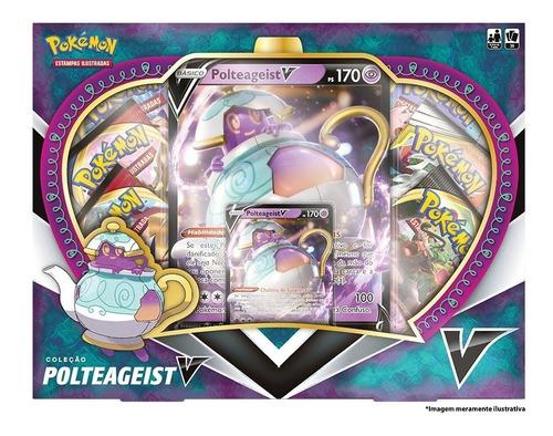 box pokémon coleção polteageist v - copag