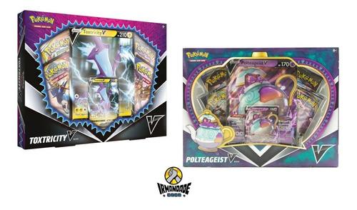 box pokémon coleção polteageist v + toxtricity v  - copag