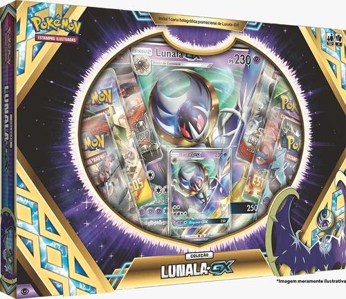 box pokémon especial lendas de alola - lunala gx 90916 copag