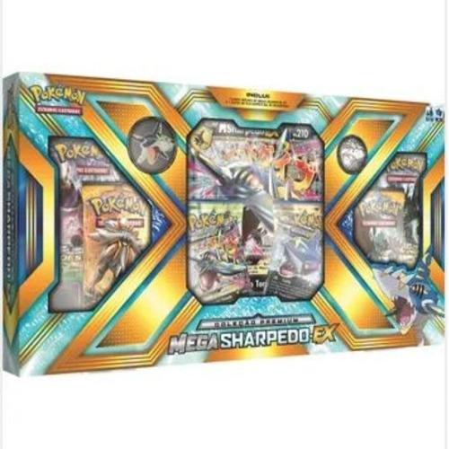 box pokémon mega sharpedo ex coleção premium - copag