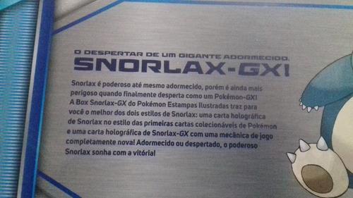 box pokemon snorlax gx estampas ilustradas - bonellihq e17