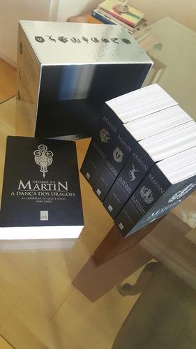 box prata - as crônicas de gelo e fogo edição de colecionado
