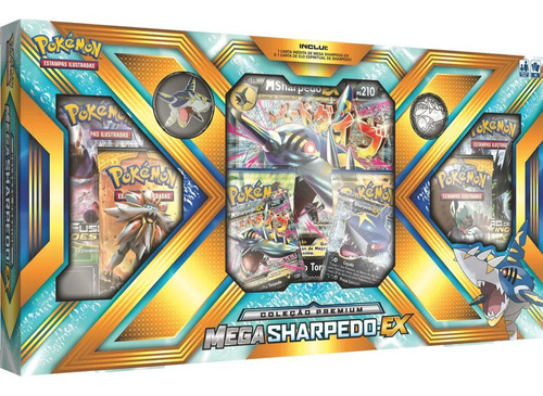 box premium pokemon trading card game tcg mega sharpedo ex