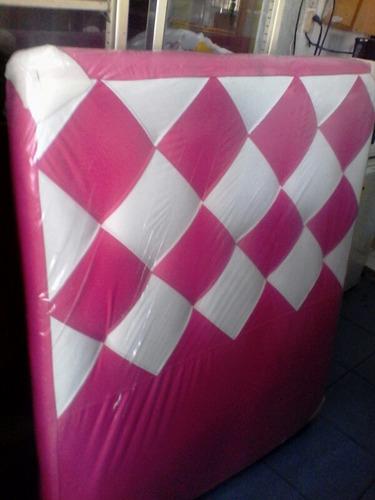 box prim matrimonial de semi cuero con baul nuevo de fabrica