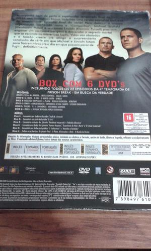 box prison break - temporada 4 - 6 discos - sem riscos