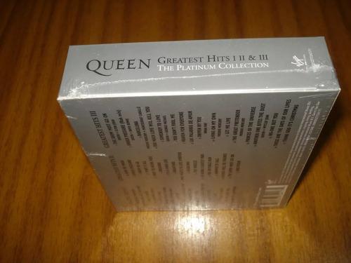 box queen / greatest hits 1,2,3 (nuevo sellado) europeo 3 cd