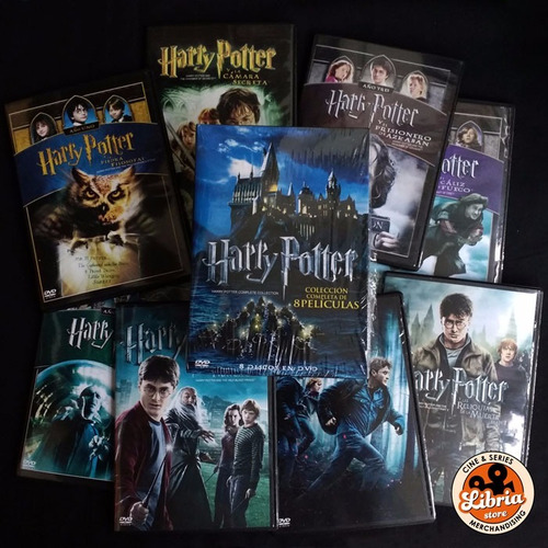 box set harry potter colección 8 dvd original libria store