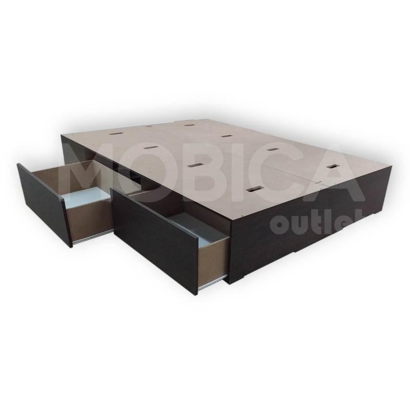 Box Sommier Cama 2 Plazas 4 Cajones 140x190 Blanco O Negro - $ 3.810 ...