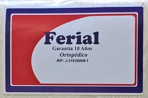box spring individual 10 años de garantía. ferial