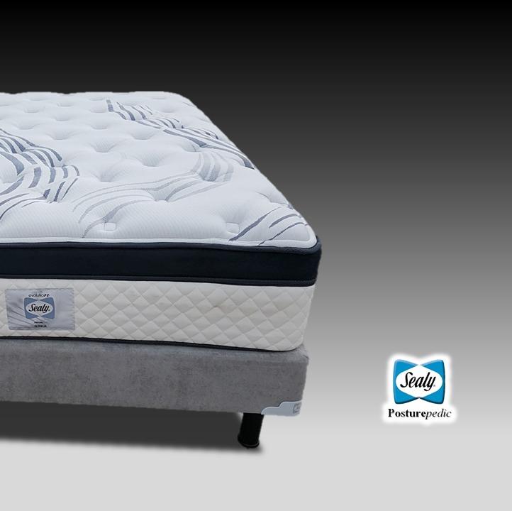 Box spring sealy queen size para cama y base para colchon for Cama king size con colchon