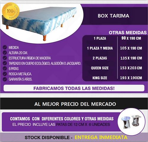 box tarima cama 2 plazas promoción