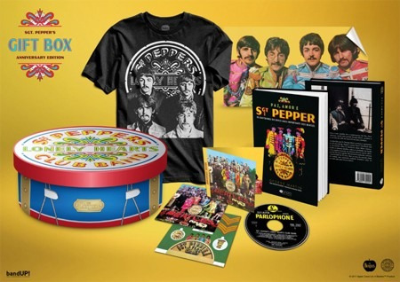 box the beatles sgt peppers 50 anos livro poster cd camiseta