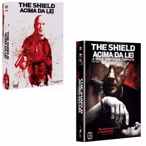 box the shield 5ª e 6ª temporadas original e lacrada - 8dvds