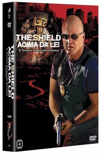 box the shield acima da lei 3a temporada com luva lacrado