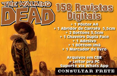 box the walking dead - coleção digital + 10 brindes