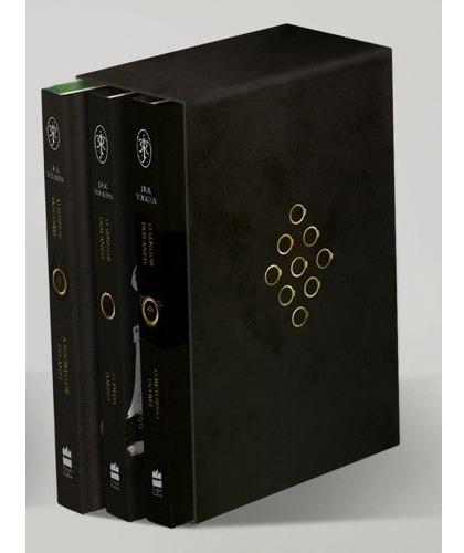 box trilogia o senhor dos anéis - 3 livros - j r r tolkien