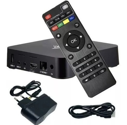 box tv android, 2gb de ram, 16gb espaço, netflix, youtube