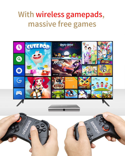 Box Tv Juego Android7 1 4k 4gb Ram/64gb Rom Wifi 3d Dlna Sci