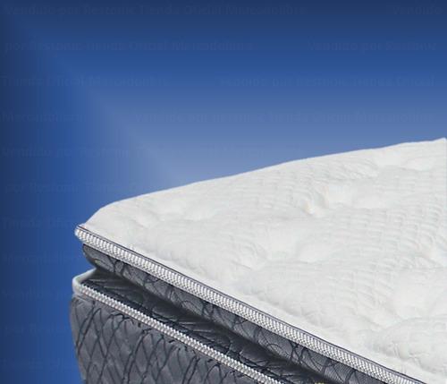 box y colchón king size confort orto pedic restonic  msi