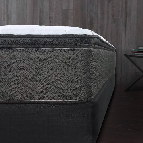 box y colchón restonic queen size euro top ortopedico worry free +envio gratis
