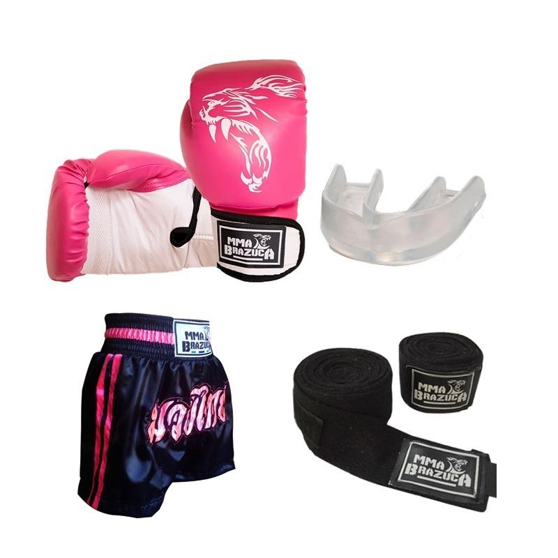 Kit Boxe Muay Thai Luva 44a21c527b7fc