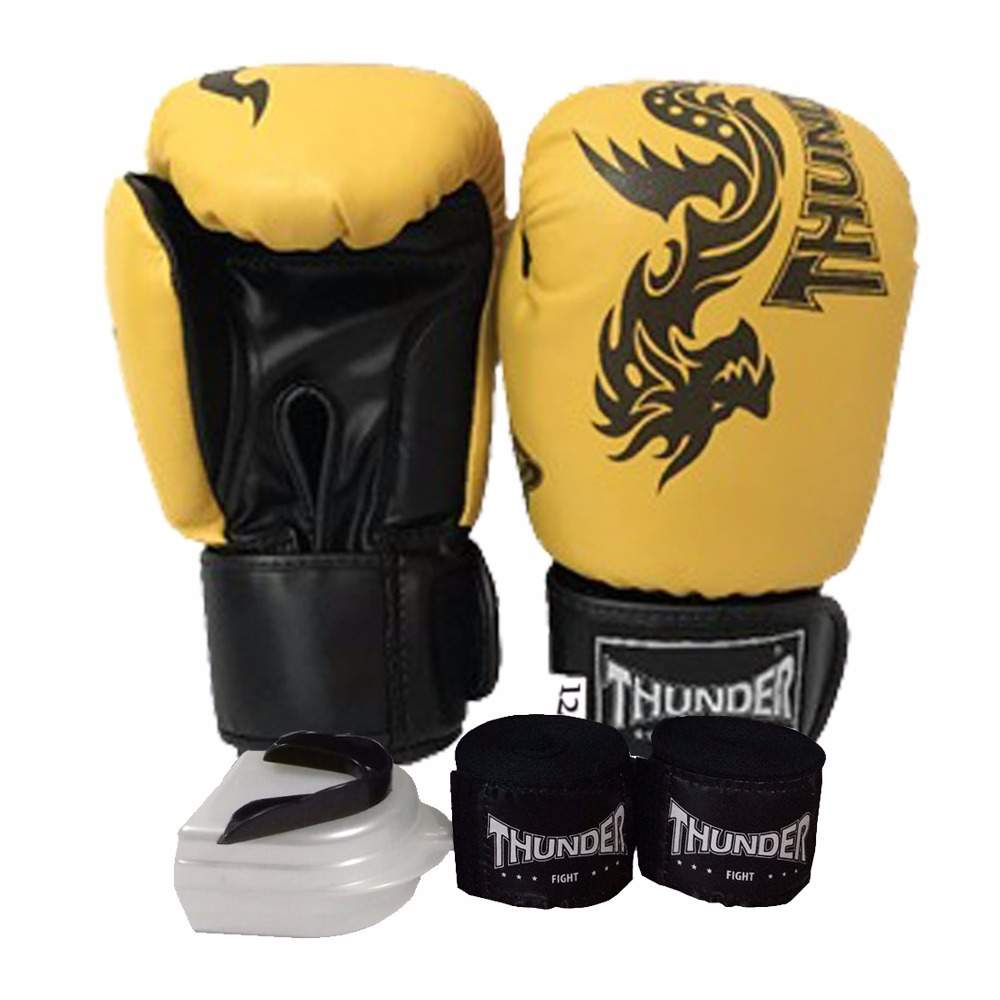 7f8c31375 Kit Top Boxe Muay Thai Luva 12oz Band. Bucal King Thunder - R  159 ...