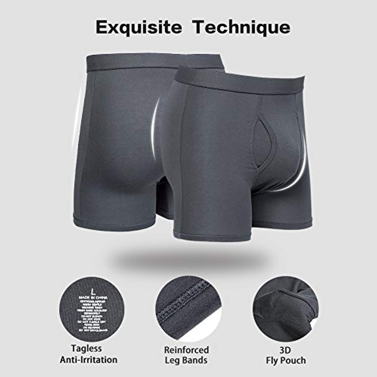 5Mayi Mens Boxers Multi Pack Mens Boxer Shorts for Men Sports Underwear for Mens Boxers