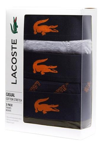 boxer lacoste pack x3 courts elastico de cocodrilo v.o