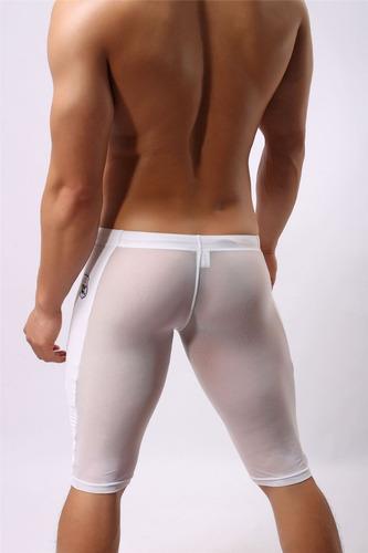 boxer largo traslucido pantaloneta gogo ropa erotica hombre