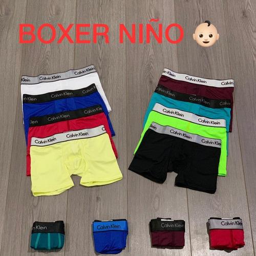 boxer niño 12 unidades microfibra tallas 2-4 6-8 10-12 14-16