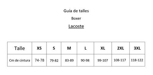 boxer pack x3 lacoste hombre  trunks underwear negro liso