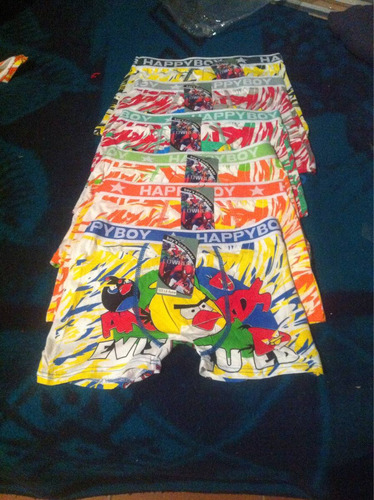 boxer para caballero docena surtida en colores microfibra