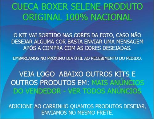boxer sem costura plus size kit com 6 cuecas em poliamida