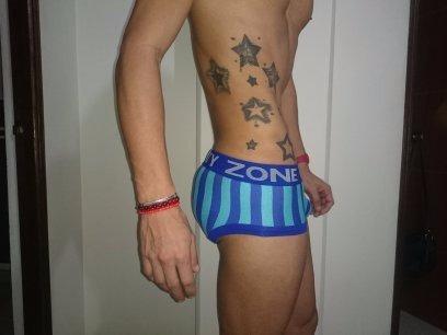 boxer tipo brief azul rayas talla s,m,l