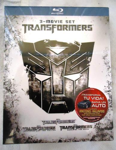 boxset la trilogia de transformers  en  blu-ray